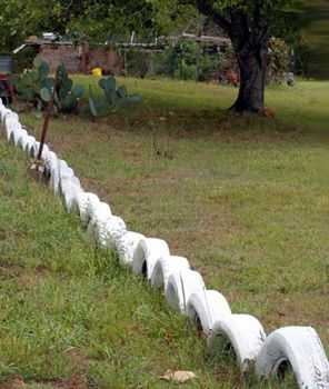 Low Tire Fence Tyres Recycle