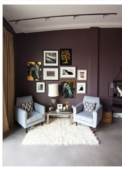 Wall Color Not Sure Maybe Benjamin Moore Blackberry Wine Or Dark Purple Master Bedroom
