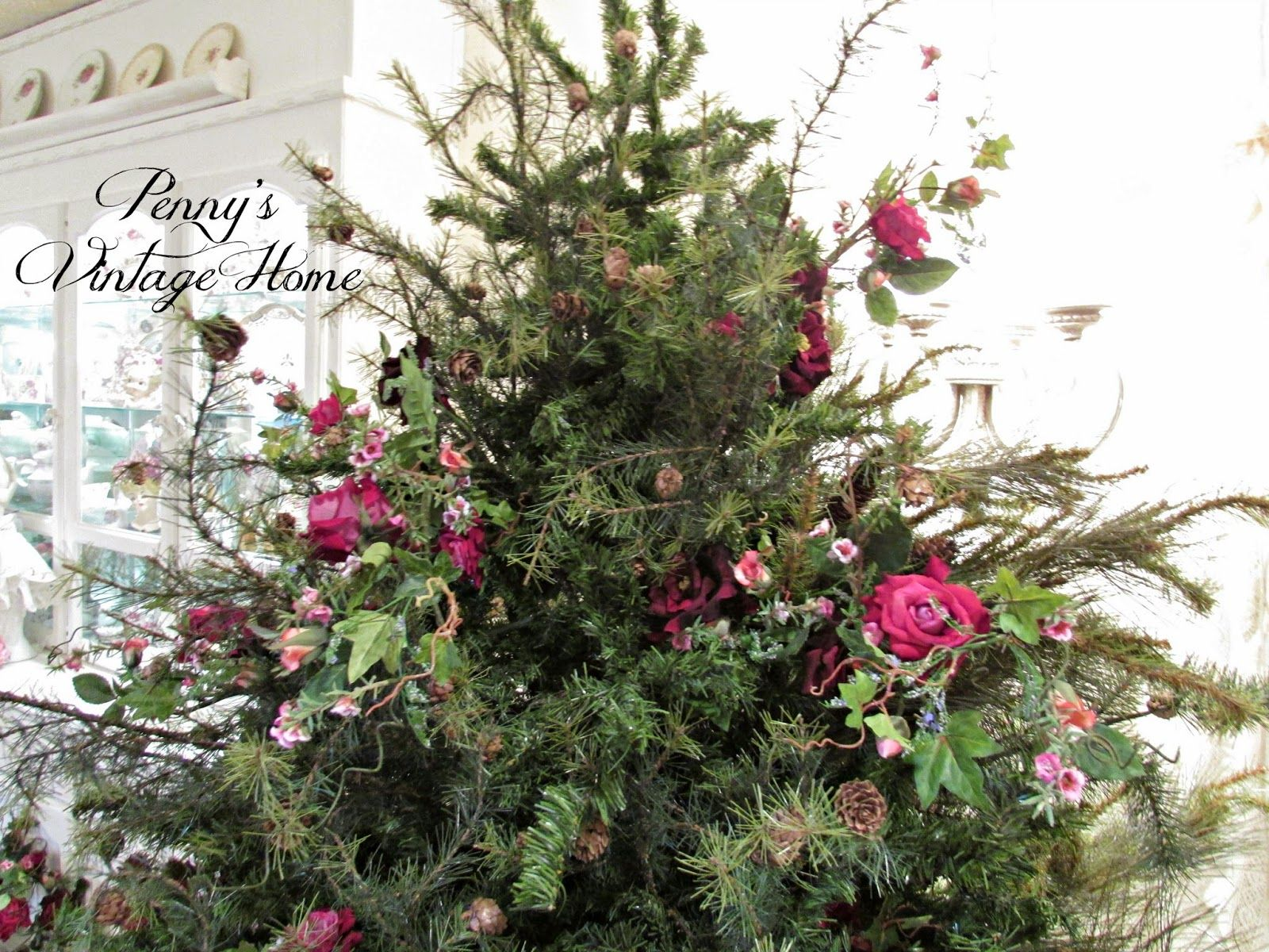 Penny's Vintage Home: How to Make a Short, Fat Christmas Tree | Christmas tree