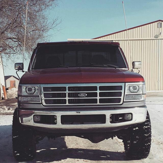 Nice Headlights And 6 4 Bumper On This Obs Ford With Images