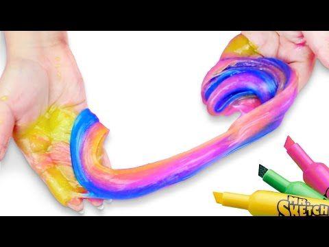 Como hacer que un solo plumon pinte todos los colores del arcoiris video how to make slime with laundry detergent ccuart Images