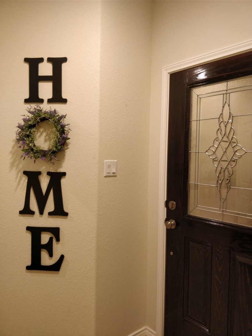 Home Ideas Decor Entryway Diy Homedecor Ideas Letters