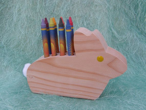 Adorable Easter bunny rabbit crayon holder for only $9.95 with FREE shipping!