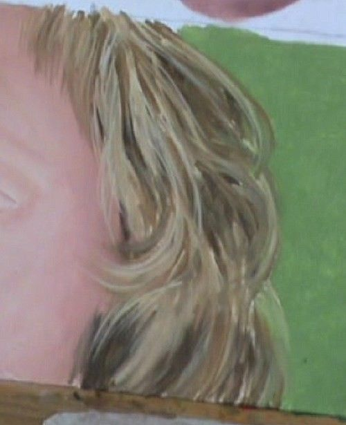 Adding The Highlights To The Hair How To Draw Hair Oil Painting Lessons Hair