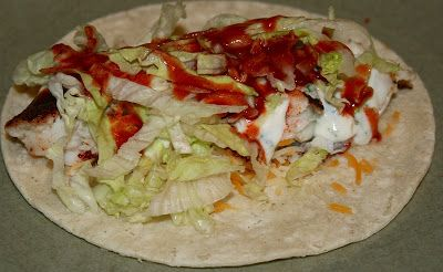 Tilapia tacos with white sauce