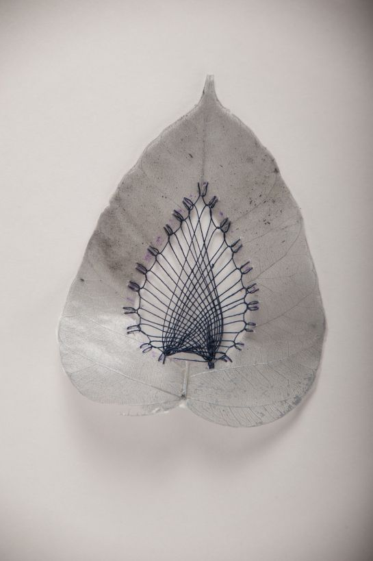 HILLARY FAYLE, LOVESTITCHING: delicate creations using found leaves and a mix of embroidery patterns and techniques.