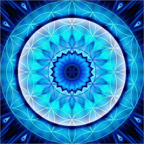 Wandaufkleber Mandala Ehrlichkeit Mit Blume Des Lebens Mandala