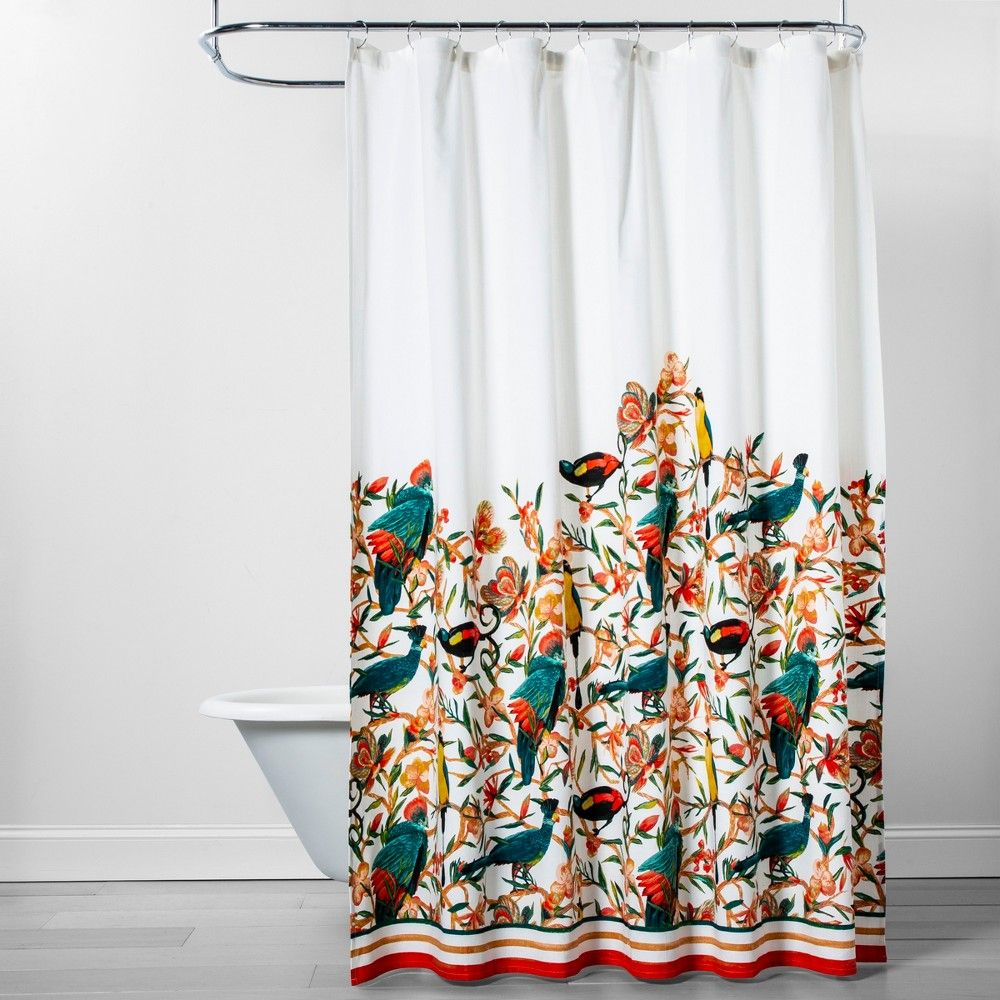 new 13 pc fabric shower curtain large