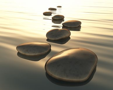 Stepping stones to joy