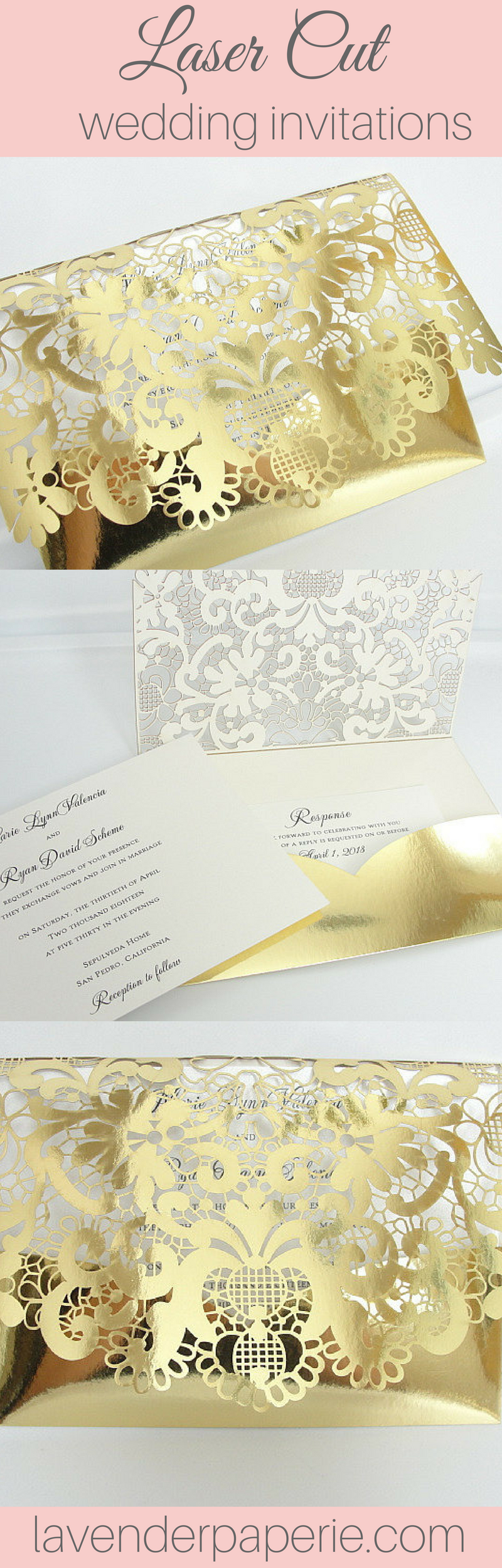 gold and white wedding invitations%0A Clutchgold foil