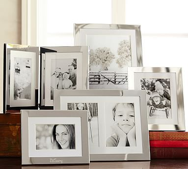 Silver-Plated Engravable Picture Frame, 4 x 6\