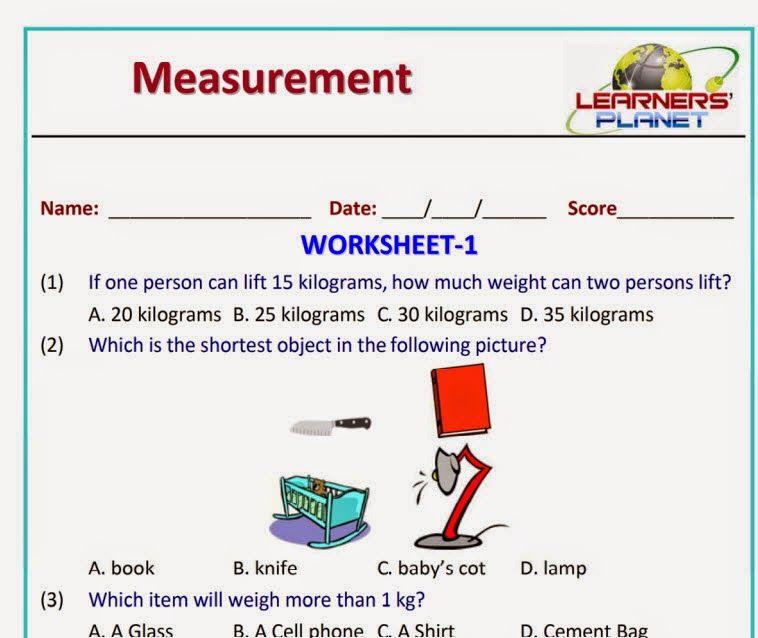 Grade Measurement Worksheets and Printables for grade 1 students ...