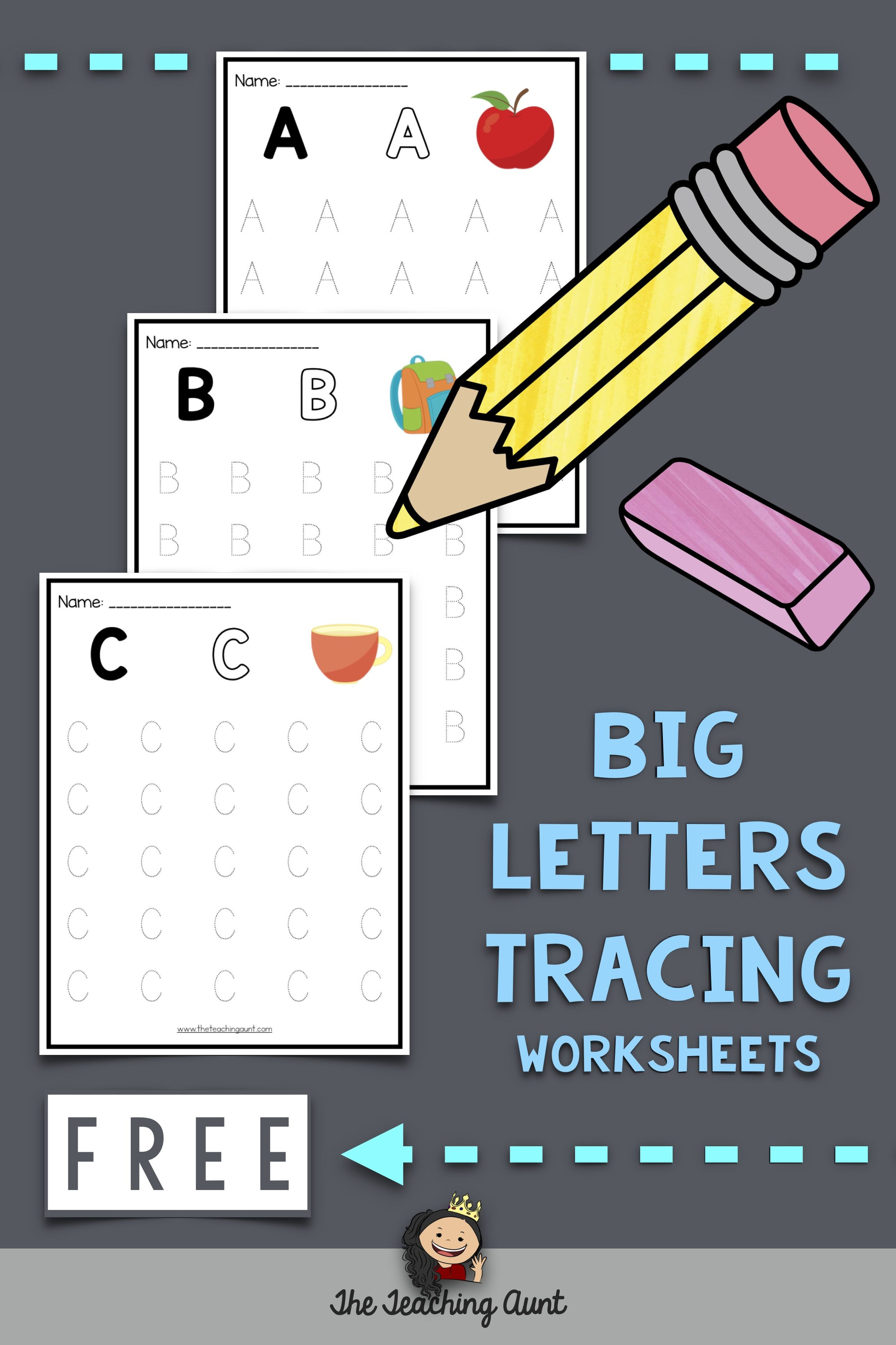 Uppercase Letters Tracing Worksheets Set 1