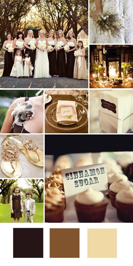 Chocolate Brown Cream Good For A Formal Winter Wedding Tips Pulling It Off Give These Neutral Colors Dressier Feel By Incorporating Glittery