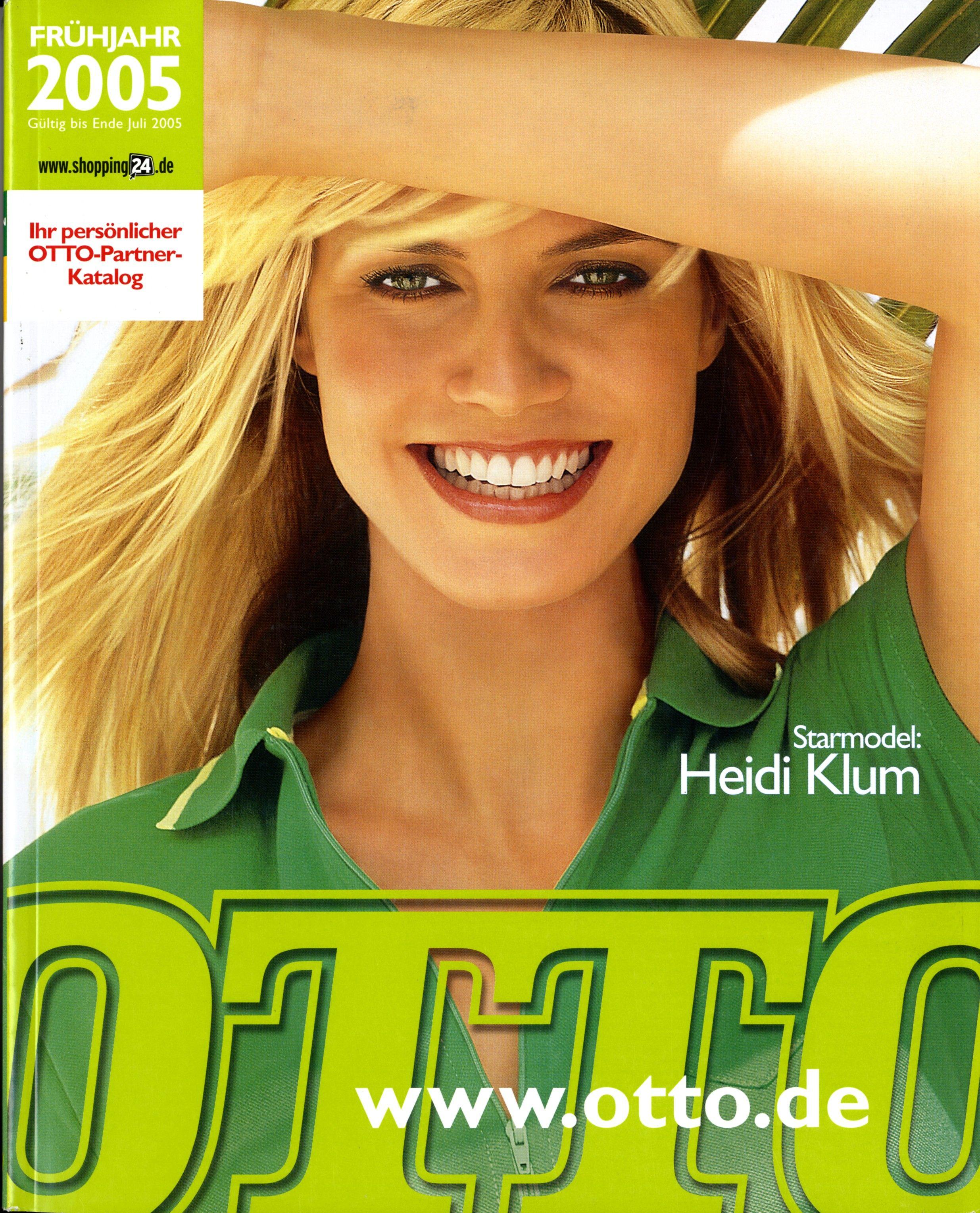 ungleich in der Leistung begrenzte garantie der Verkauf von Schuhen Katalogcover Frühjahr 2005. Zum zweiten Mal ziert Heidi Klum ...