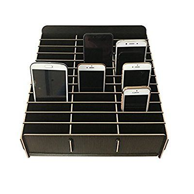 low priced b6d43 be5d2 Loghot Wooden 36 Storage Compartments Multifunctional Storage Box ...