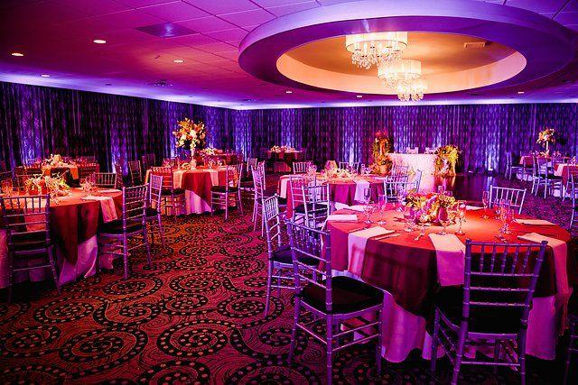 Ramblewood Country Club | Country Club weddings | ballroom wedding | reception | uplighting | fall wedding | tall centerpieces | chandeliers | @serenastarphoto | @savannahsgarden