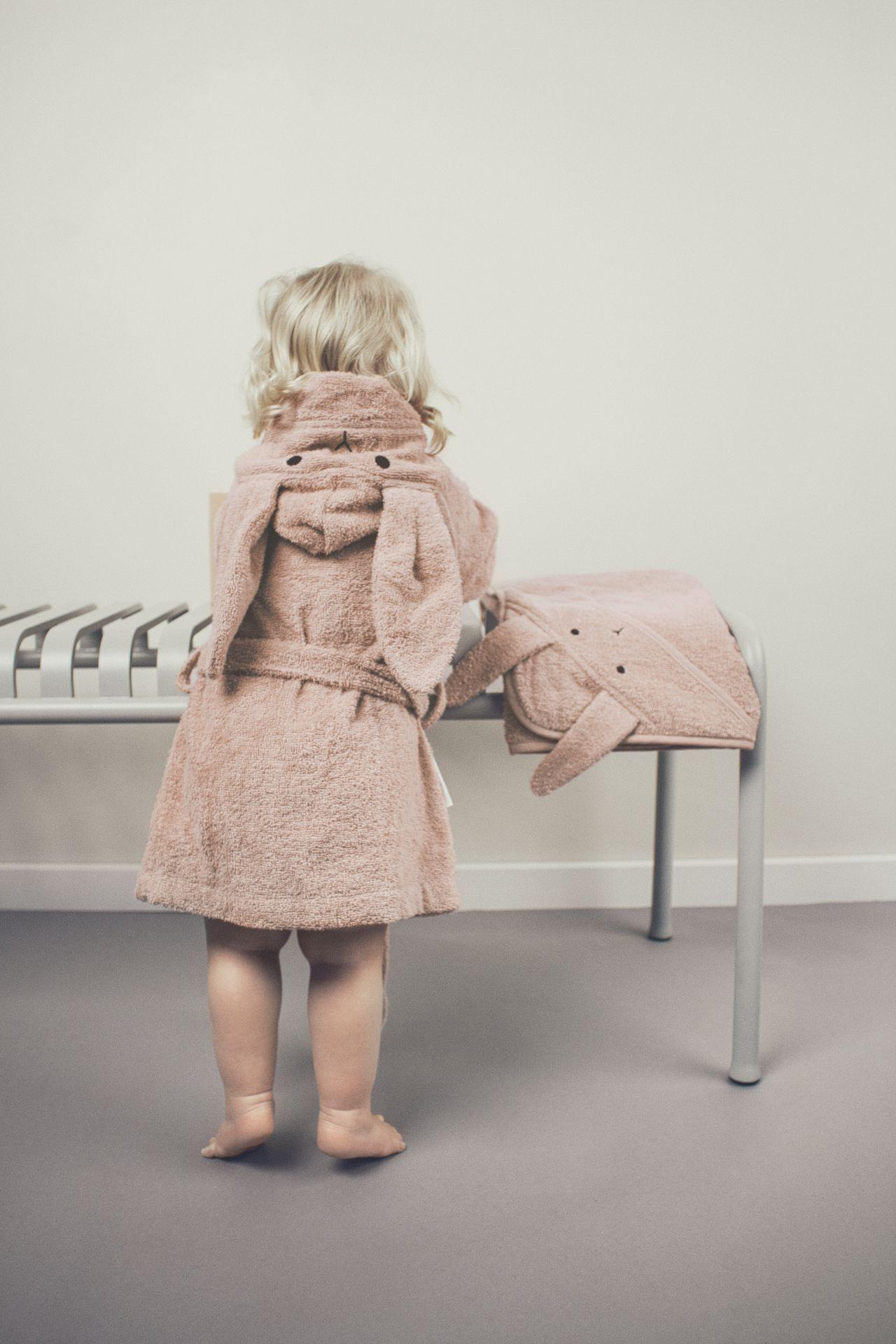Liewood Bademantel Lily Hase Rose Kapuzenhandtuch Baby Mantel Bademantel