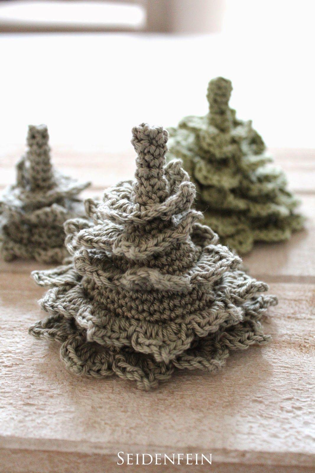Diy Häkeltannen Tannen Weihnachtsbaum Häkeln Adventsdeko