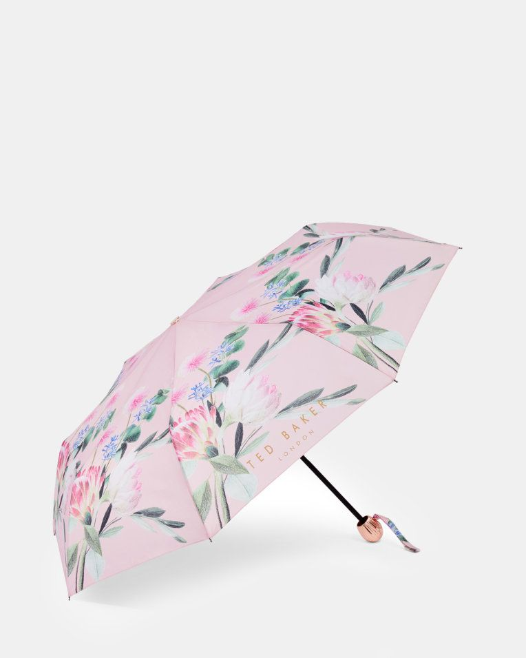 4bc601672 Flourish print umbrella - Dusky Pink | Gifts For Her | Ted Baker ROW ...