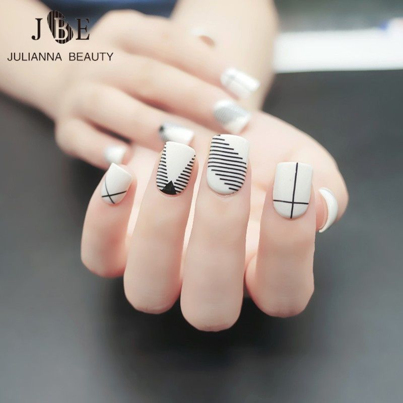24pcs Fashion Fake Nail Tips For Child Pre Designed Kid Fake Nails ...