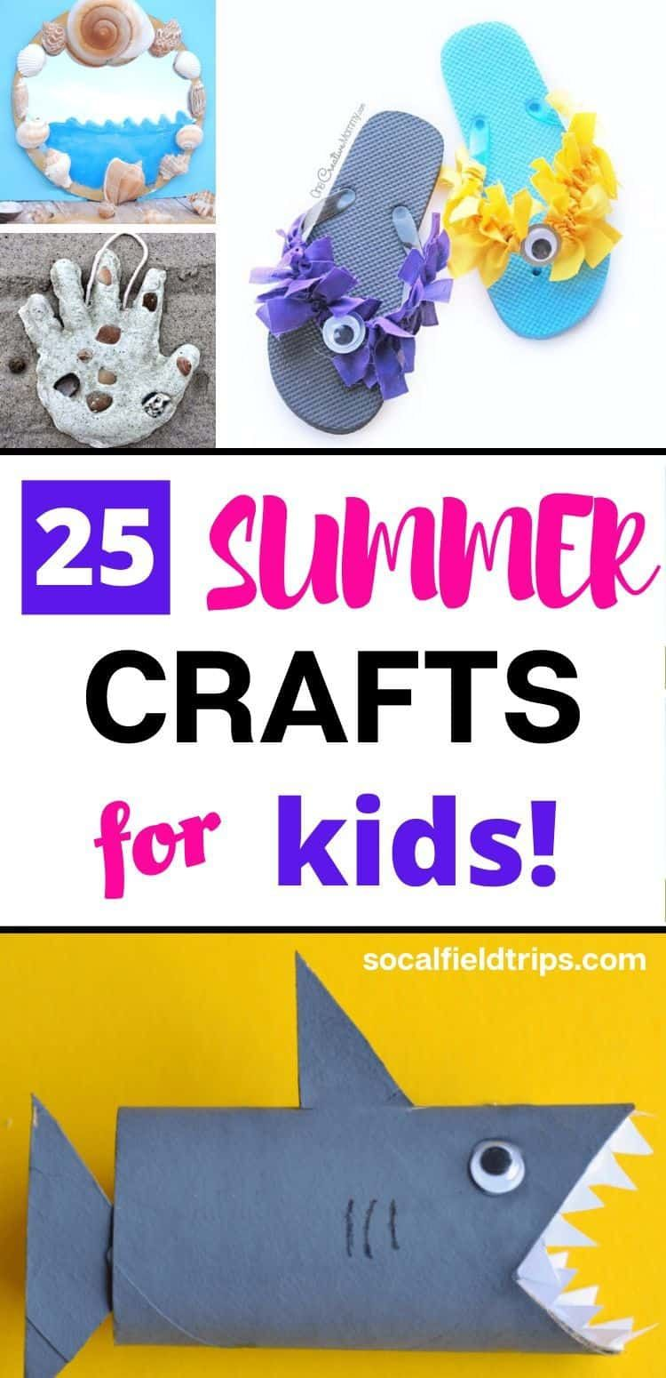 Are you looking fun summer activities for kids that don't cost a lot of money? Then check out this list 25 Summer Crafts for Kids that are inexpensive, easy, great for all age groups and perfect to do indoors or outdoors. #summer #summercraft #kidsactivities #summergames #outdoorgames #kidscraft #kidscrafts #steamactivities #steamactivity #summercrafts #summerdecor #summerfun #summeractivities #summerparty #summercamp #steam #stem #stemactivities