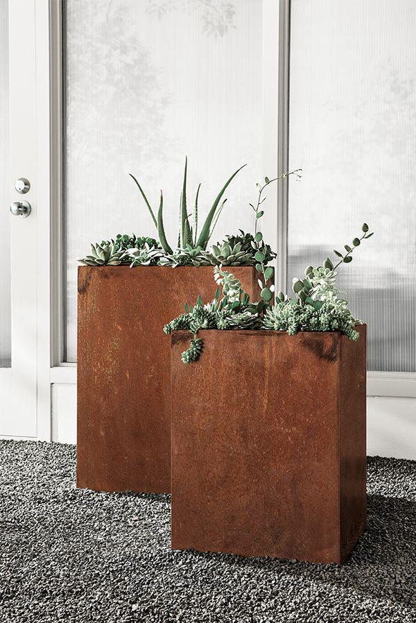 Terrace Rectangular Planter in COR-TEN Steel Te quiero, Macetas y - jardineras modernas