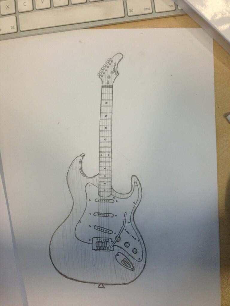 Guitar Drawing Guitar Drawing Pencil Drawings Art Prints Quotes