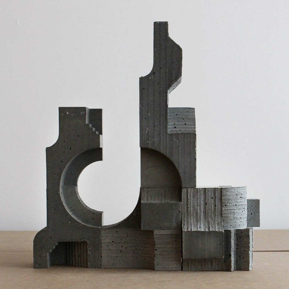 la sculpture brutaliste de david umemoto architecture models and arch. Black Bedroom Furniture Sets. Home Design Ideas