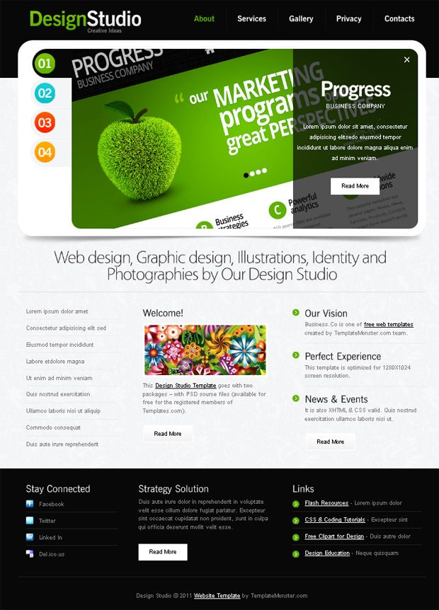 Design Web Template. design website templates. 30 free responsive ...