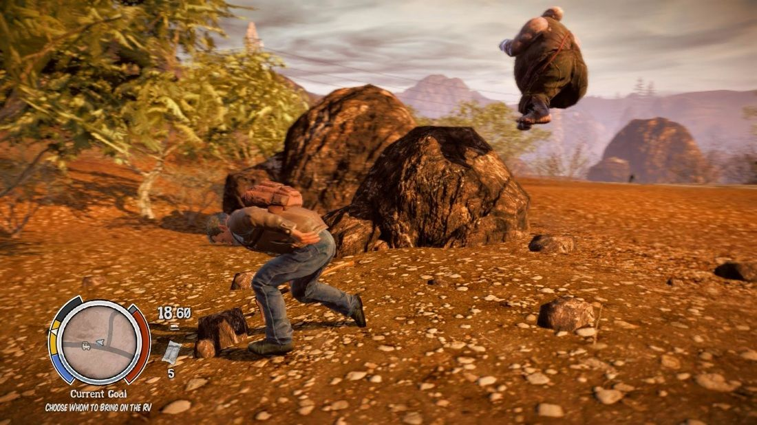 Flying Fatboy. Classic State of Decay moment in my breaking 1 million twitch marathon, getting a fatboy to fly. Poor fatboy, his crowning achievement was learning to fly and then he died. Look for the video footage in my Twitching SOD Breakdown series episode #10.