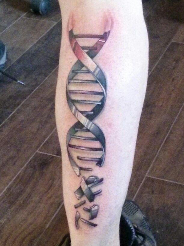 My new DNA tattoo, represents my finding my real family after 50 years,putting the pieces together!!! New ,just love it.