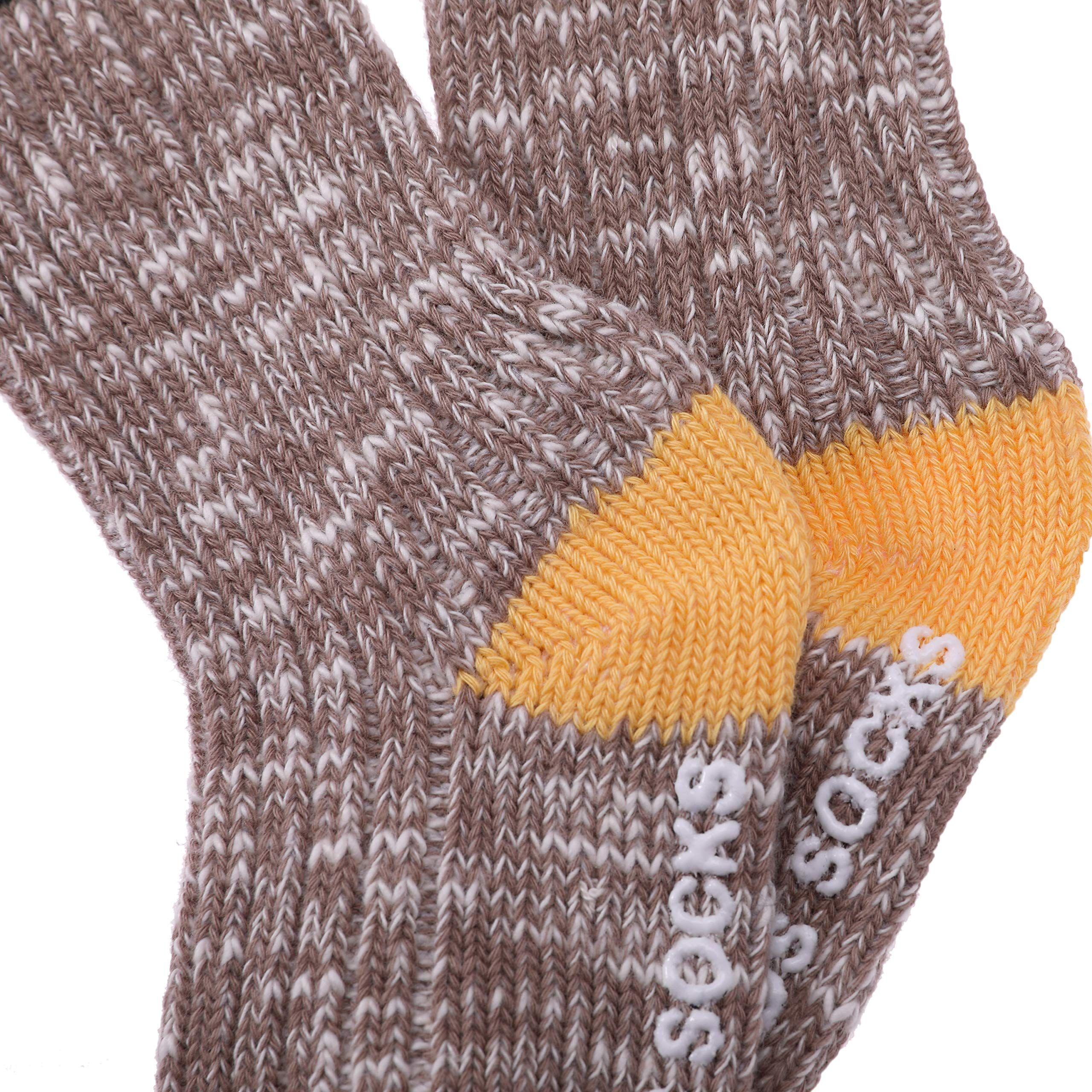 LiveZone 6 Pack Unisex Little Boys Girls Cotton Crew Tube Socks Knee High Socks