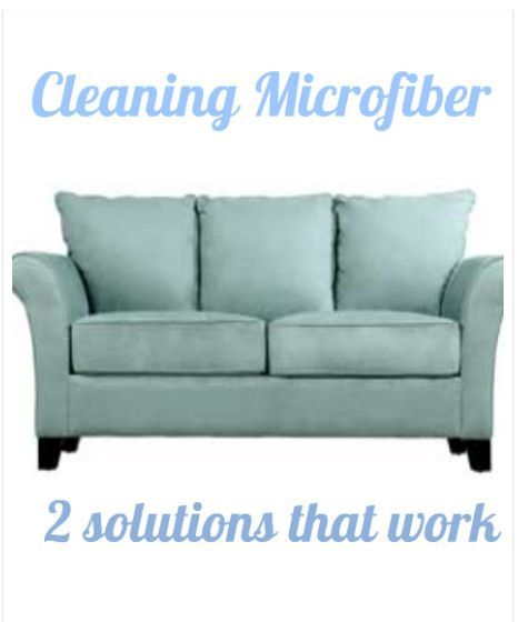 Sofa Set Cleaning: THIS WORKS! How To Clean Microfiber Sofas And Chairs