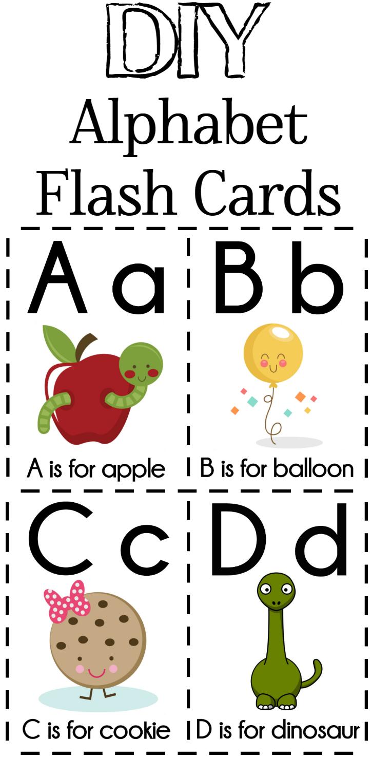 DIY Alphabet Flash Cards FREE Printable DIY Alphabet Flash Cards FREE Printable