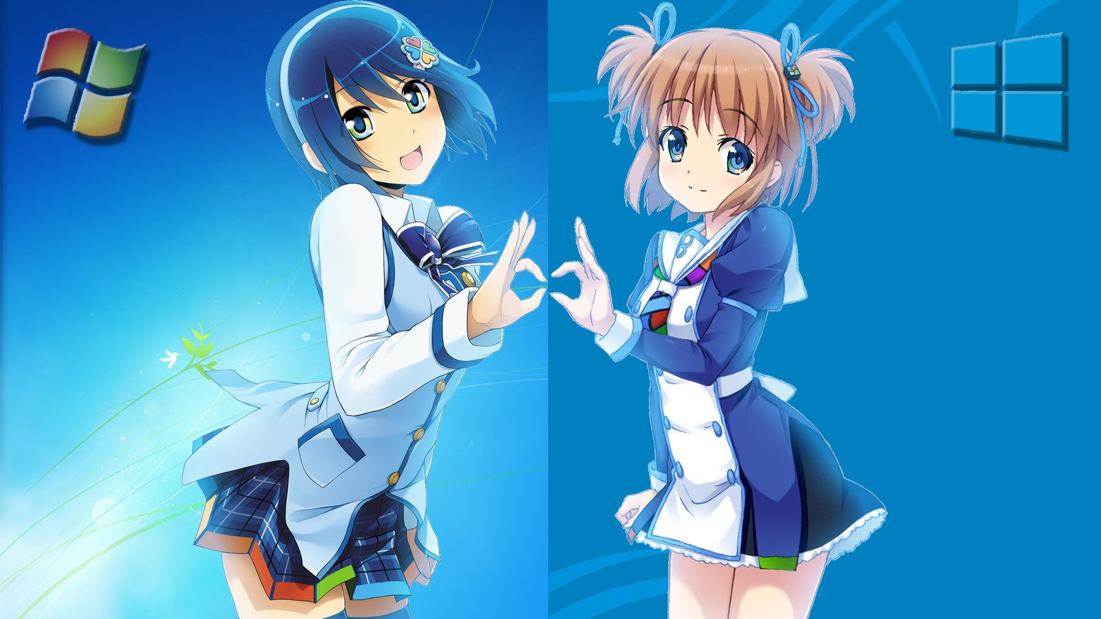 Nanami And Yuu Madobes Together As The Launch Of Windows 8 Happened Just After Windows 7 Got Strong Creator Un Anime Desktop Wallpaper Art Background Images Anime wallpaper for laptop windows 8