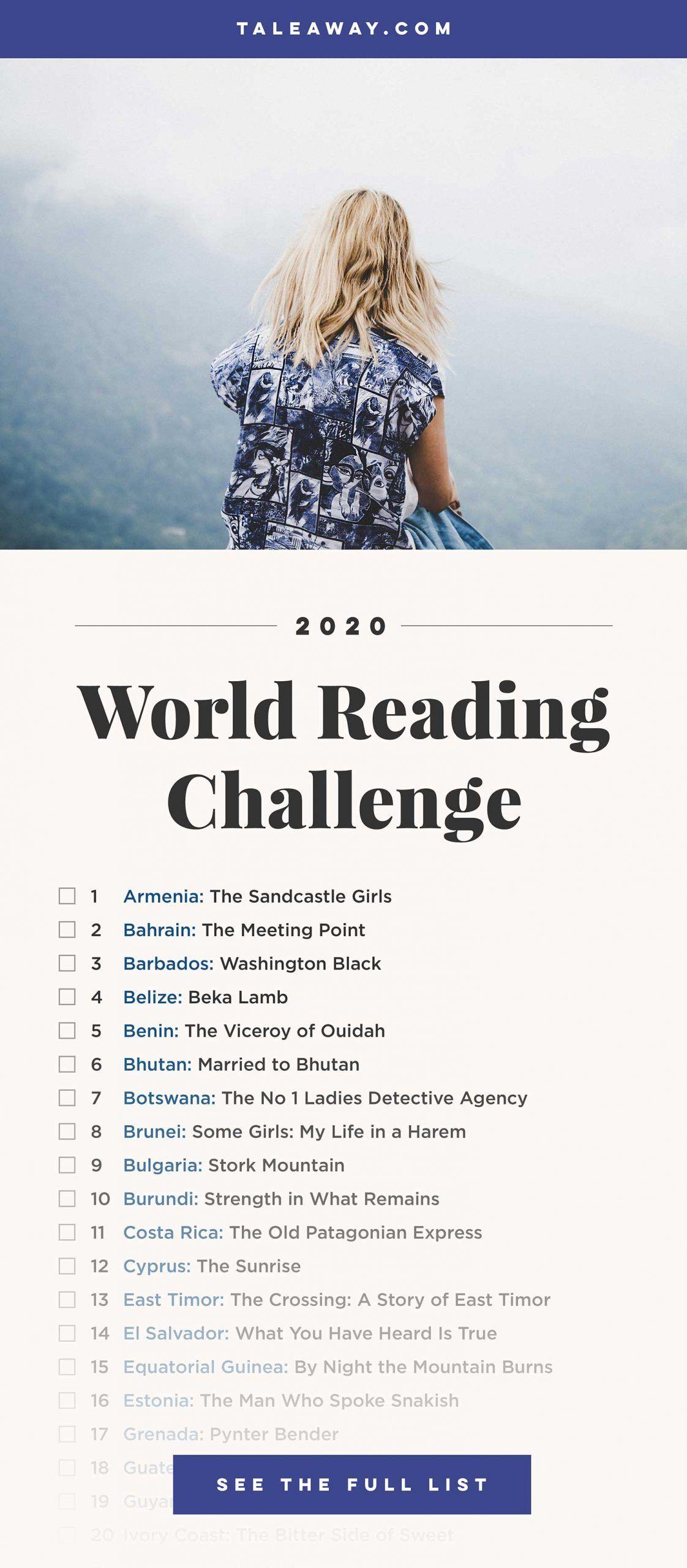 World Reading Challenge, Books Around The Globe #bookstoread