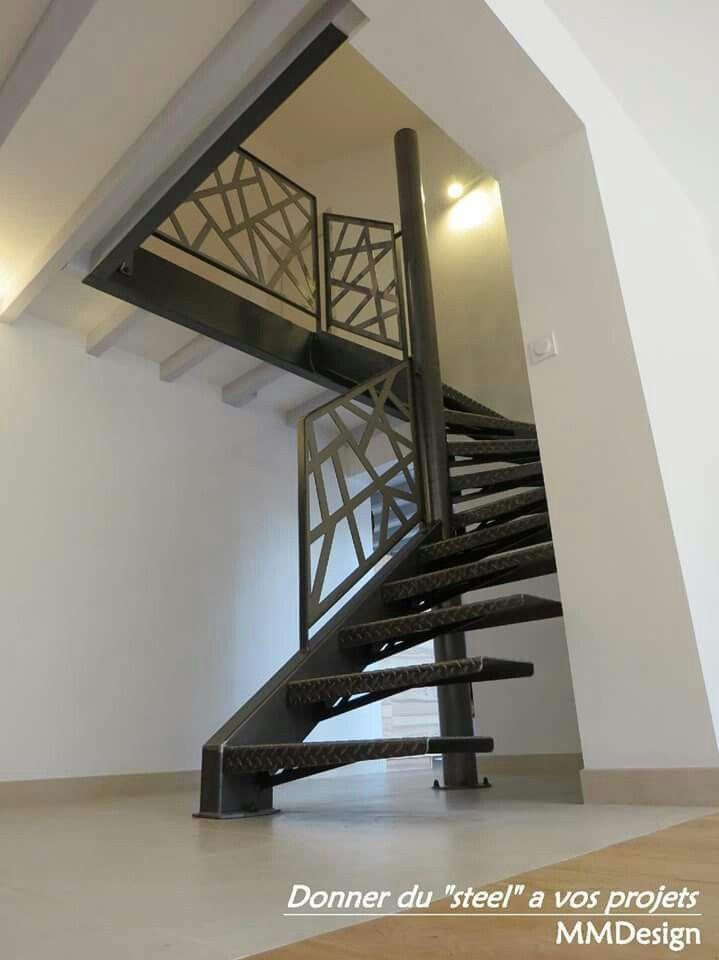 Escalier Metal Marche En Tole Larmee Cs Treppen Pinterest