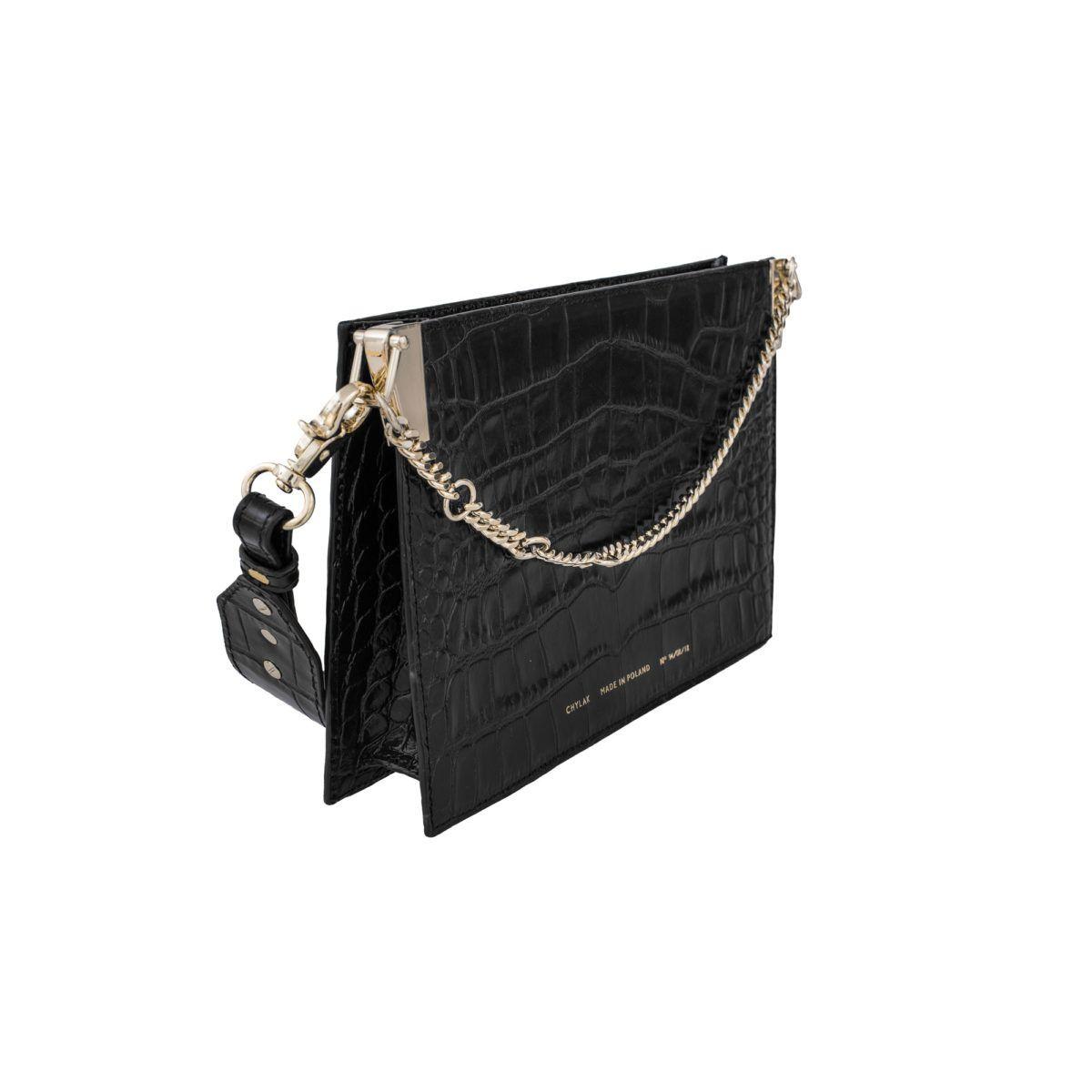 """e65f89339 2019的Chain Bag """"glossy black crocodile"""" - Chylak   Bags   Bags ..."""