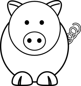 Cartoon Pig Clip Art | DIY - Stencils | Pinterest | Art pictures ...