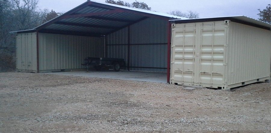 Gabled Enclosed Attachment Floresville Texas Shed