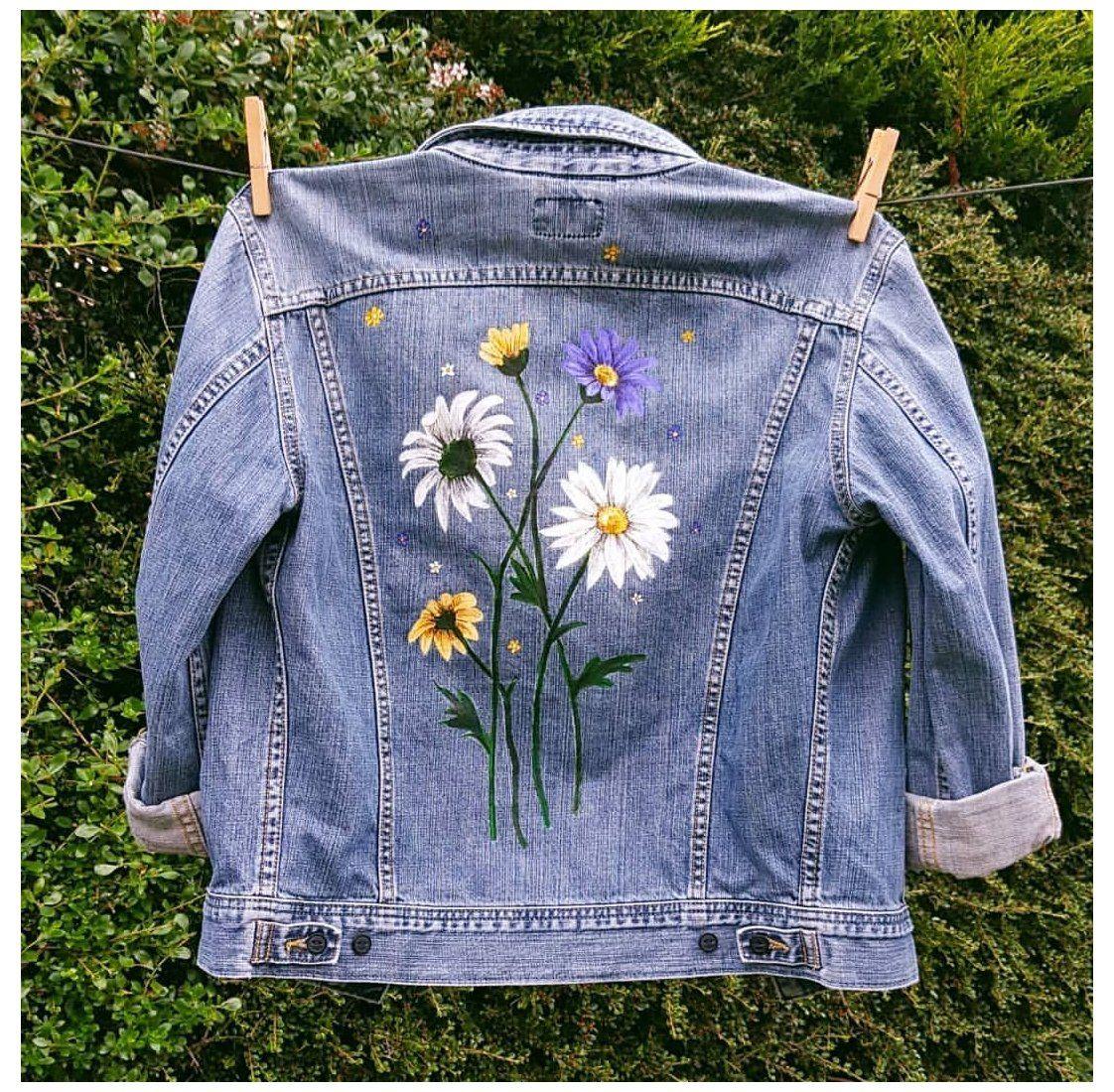 Behind The Scenes By Danibee Arts The Custom Movement Custom Denim Jacket Ideas Customdenimjacketid In 2021 Painted Clothes Painted Clothes Diy Diy Denim Jacket [ 1100 x 1122 Pixel ]