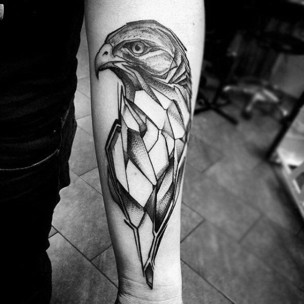 60 Geometric Animal Tattoo Designs For Men - Cool Ink Ideas