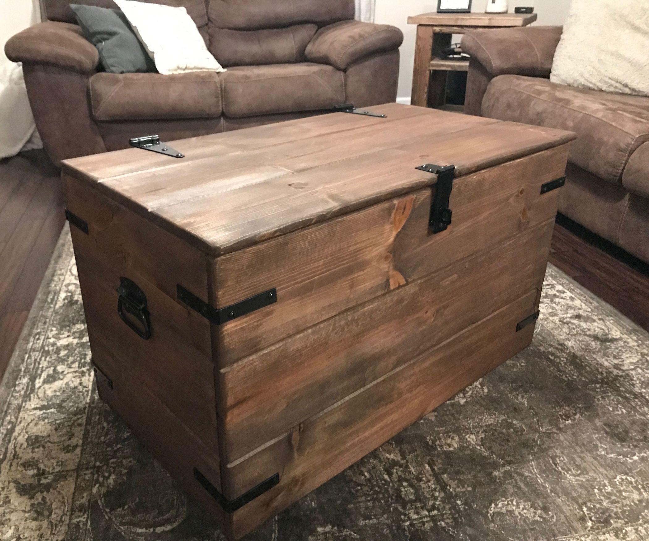 Rustic wood chest toybox shopbookcaseshelf pinterest toy