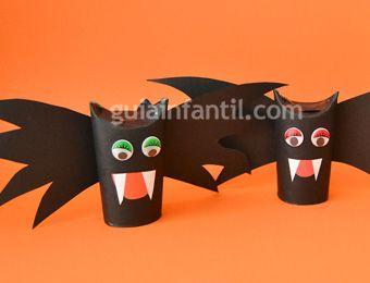 Murciélago De Halloween Manualidades Infantiles De Reciclaje Manualidades Infantiles Manualidades Halloween