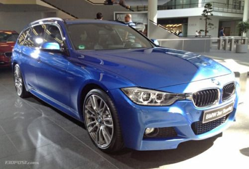 The Upcoming Bmw F30 3 Series Touring M Sport In Le Mans Blue Ii