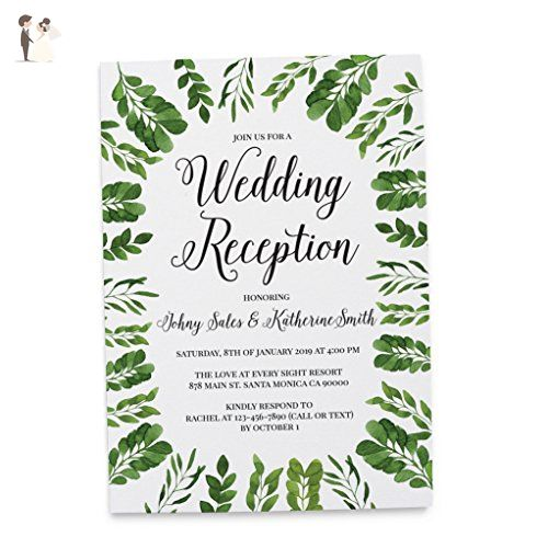 Casual Wedding Reception Elopement Wedding Invitation Cards