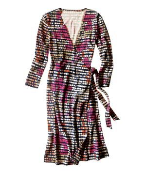 Gap printed wrap dress - just bought this yesterday but in a (green/yellow/white/grey) version!!!! so comfy!