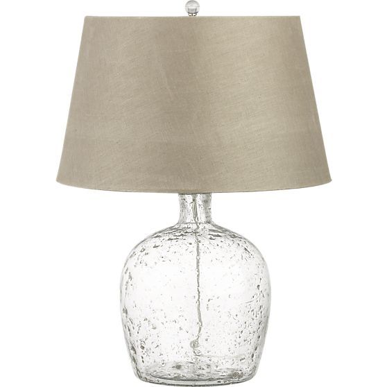 Clear Glass Top Hammered Base 48x28 Dining Table – Crate and Barrel Desk Lamp