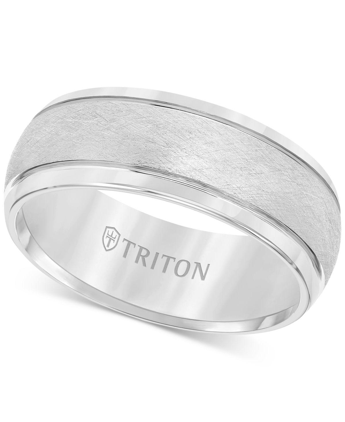 Triton Men's Tungsten Ring, Wedding Band & Reviews Rings